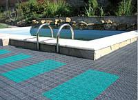 Модульное напольное покрытие для бассейнов.