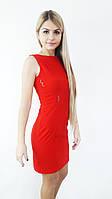 Стильное женское платье красный