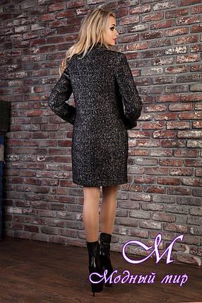 Женское демисезонное серое пальто  (р. S, M, L) арт. Кемби крупное букле 8522, фото 2