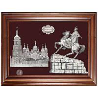 Сувенир Богдан Хмельницкий на фоне Софийского собора