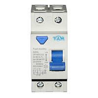 Дифференциальный выключатель УЗО ТДМ А60L  2Р, 40А, 30мА