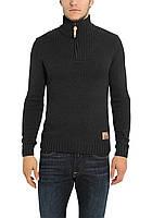 Мужской черный вязанный свитер  Jeri от !Solid  в размере L