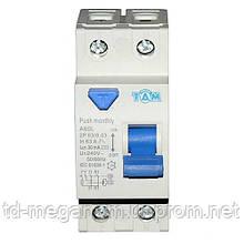 Дифференциальный выключатель УЗО ТДМ А60L  2Р, 63А, 30мА
