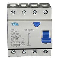 Дифференциальный выключатель УЗО ТДМ А60L  4Р, 16А, 100мА