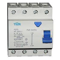 Дифференциальный выключатель УЗО ТДМ А60L  4Р, 25А, 100мА