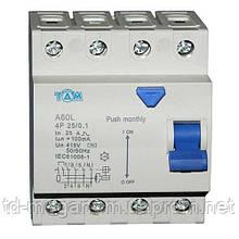 Дифференциальный выключатель УЗО ТДМ А60L  4Р, 32А, 100мА