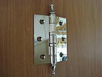 Петля дверная Gelaris 75 мм универсальная с декором хром