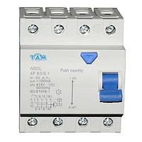 Дифференциальный выключатель УЗО ТДМ А60L  4Р, 63А, 100мА