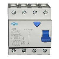 Дифференциальный выключатель УЗО ТДМ А60L  4Р, 16А, 300мА
