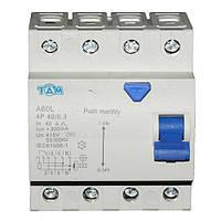 Дифференциальный выключатель УЗО ТДМ А60L  4Р, 40А, 300мА