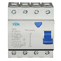 Дифференциальный выключатель УЗО ТДМ А60L  4Р, 63А, 300мА