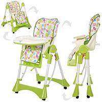 Кресло для кормления высокое Bambi Baby на колесиках