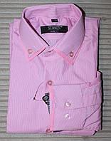 Рубашка для мальчика цветная розовая. , фото 1