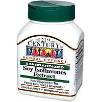21st Century, Экстракт изофлавонов сои, стандартизированный, 60 вегетарианских капсул