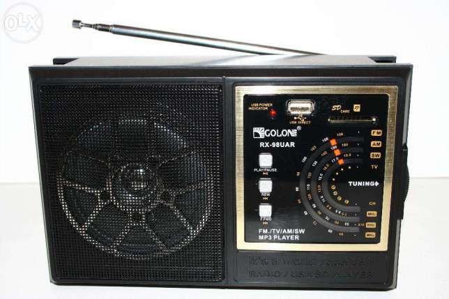 Радиоприемник Golon RX-98UAR, с пультом, MP3 плеер - USB/SDcard вход. FM-радиоприемник Golon RX-98UAR