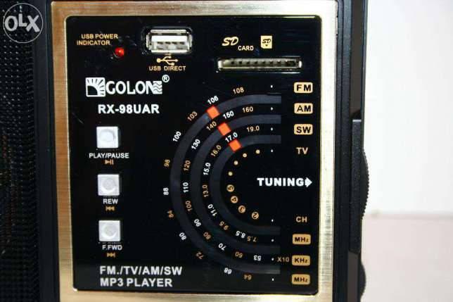 Радиоприемник Golon RX-98UAR, с пультом, MP3 плеер - USB/SDcard вход. FM-радиоприемник Golon RX-98UAR, фото 2