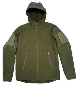 Куртка с капюшоном из материала Софтшелл (Softshell 5000H) в оливе