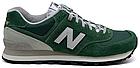 Мужские кроссовки New Balance 574 (Нью Баланс 574) в стиле зеленые, фото 6