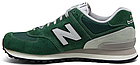 Мужские кроссовки New Balance 574 (Нью Баланс 574) в стиле зеленые, фото 7