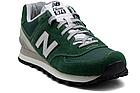Мужские кроссовки New Balance 574 (Нью Баланс 574) в стиле зеленые, фото 8