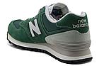 Мужские кроссовки New Balance 574 (Нью Баланс 574) в стиле зеленые, фото 9
