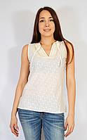 Блуза женская молочная, 44-48 р-ры, хлопок