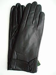 Женские кожаные зимние перчатки на натуральном меху овчинки