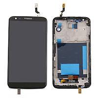 Дисплей (LCD) LG D802 G2/ D805 G2 с сенсором черный оригинал 20 пин + рамка