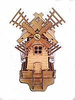 Мини-бар с рюмками деревянный Мельница