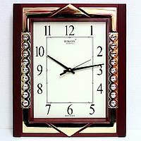 Настенные кварцевые часы Rikon 601 коричневые