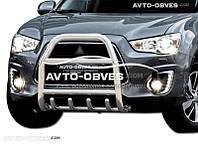 Защита переднего бампера Mitsubishi ASX 2013-2016 (п.к. RR04)