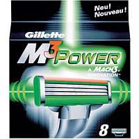 Лезвия для бритвы серии Gillette Mach3 Power 8's (восемь картриджей в упаковке)