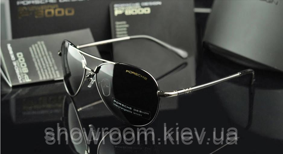 Солнцезащитные очки в стиле Porsche Design c поляризацией (p-8510 silver)