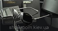 Солнцезащитные очки в стиле Porsche Design c поляризацией (p-8510 silver), фото 1