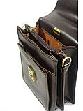 Барсетка кожаная мужская катана коричневая 63015, фото 2