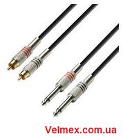 Готовый кабель 2 х джек моно(6,3) ↔ 2 х тюльпан BIG XC007 10М