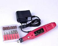 Машинка для маникюра/Фрезер для маникюра и педикюра с насадками 15тыс об/мин розовый