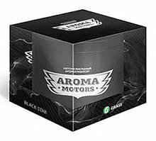Ароматизатор гелевый «Aroma Motors» BLACK STAR в блистерной упаковке (круглый), 100мл