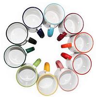 Чашка для сублимации с цветным ободком