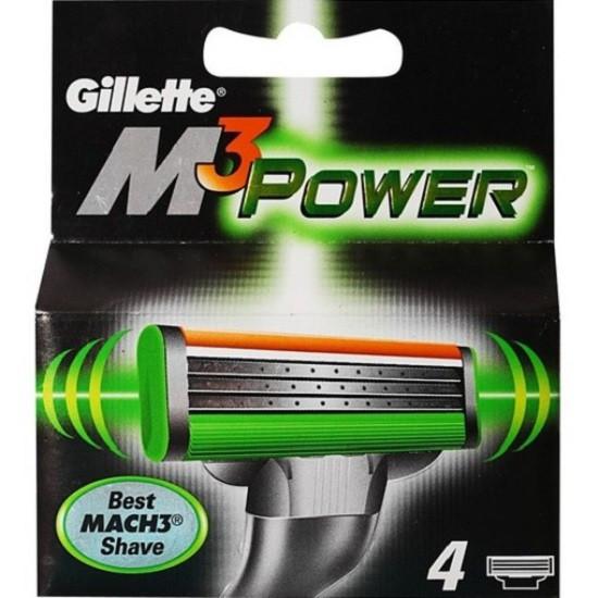 Картриджи Gillette Mach3 Power 4's (четыри картриджа в упаковке)