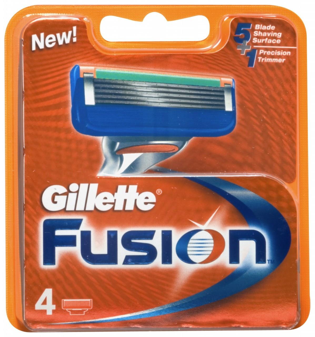 Картриджи Gillette Fusion 4's (четыре картриджа в упаковке)