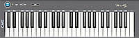 CME M-key grey USB/MIDI ультратонкая клавиатура, 49 динамических клавиш