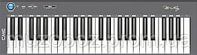 CME M-key grey USB/MIDI ультратонкая клавиатура, 49 динамических клавиш