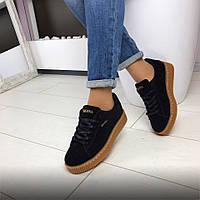 Кроссовки криперы замшевые женские Rihanna