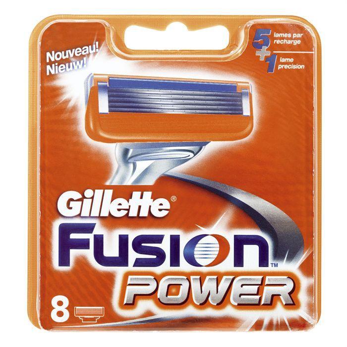 Картриджи Gillette Fusion Power 8's (восемь картриджей в упаковке)