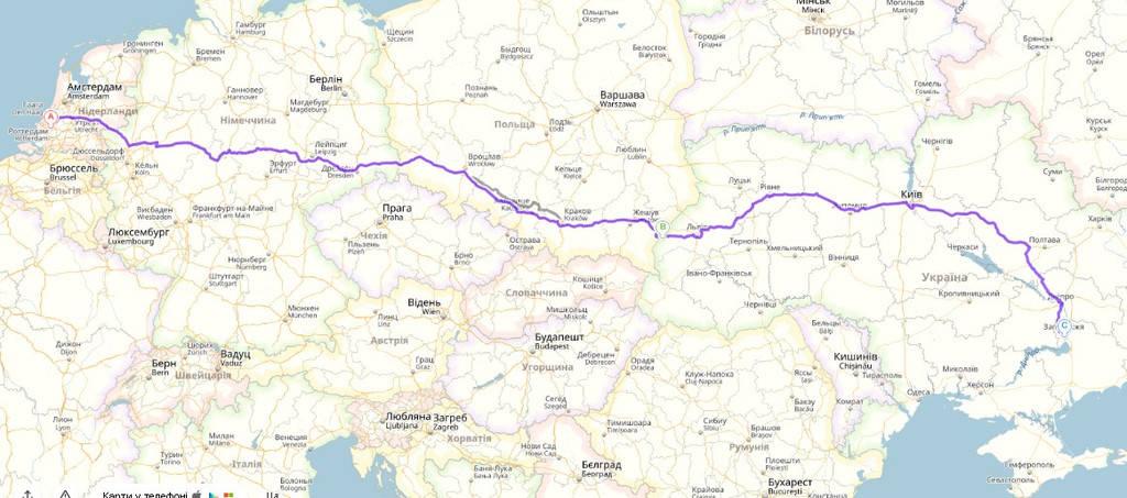 Роттердам, Нидерланды - Запорожье, Украина Первозка бытовой техники Нидерланды - Украина