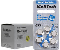 Батарейки для кохлеарных имплантов IcellTech, 6 шт.