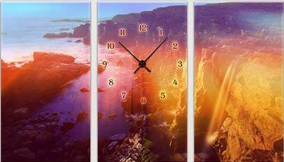 "Модульная картина-часы (75х45 см) ""Пейзаж"""