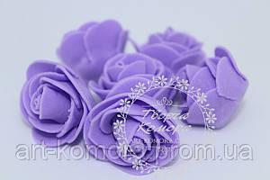 Головка розы латексная фиолетовая, 2,5 см