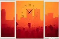"""Модульная картина-часы (100х70 см) """"Город Африки"""""""